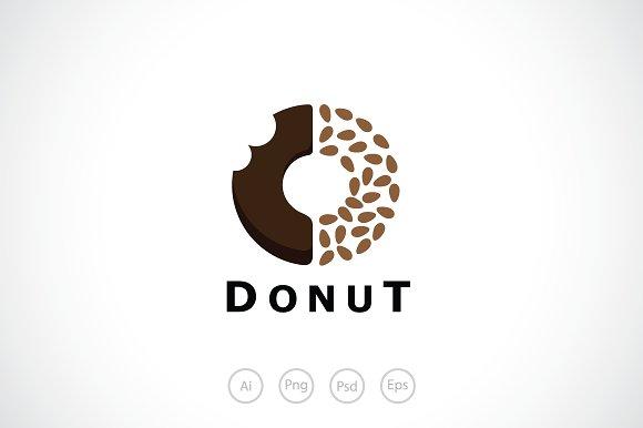 delicious donuts logo template logo templates creative market