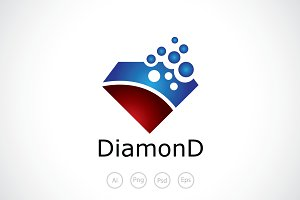 Diamond Bubble Logo Template