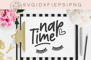 Nap Time SVG DXF PNG EPS