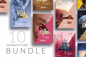 10 Minimal Flyer Templates Bundle