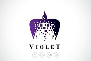 Violet Bird Logo Template