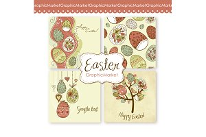 Easter Vintage card templates