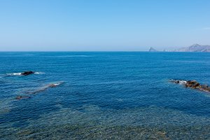 The sea in Calabardina