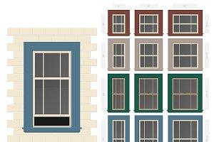 Single hung cottage window set