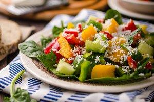 Mixed salad, vegetable salad