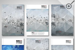 Brochure template with molecules