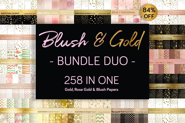 84% OFF! Blush & Gold BUNDLE DUO