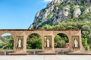 Statues on square in Montserrat