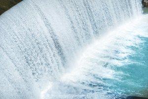 Waterfall on a big dam