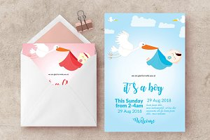 Baptism Baby Shower Invite Template
