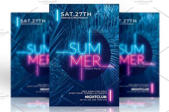 Psd Flyer | Summer Template