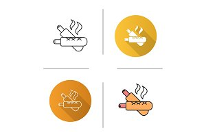 French hot dogs icon