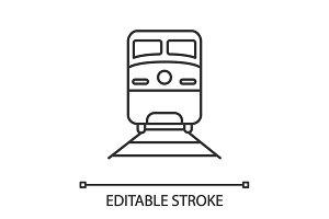 Train linear icon