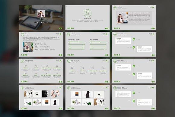creative resume powerpoint template presentation templates
