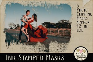 Ink Stamped Photo Clipping Masks