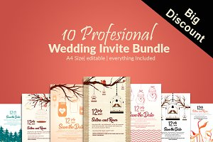 10 Save The Date Invite Bundle