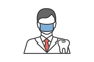 Dentist color icon