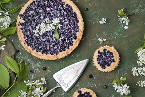 homemade blueberry tart