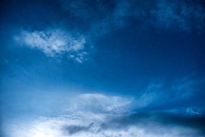 Dark blue night sky with many stars