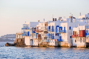 Little Venice in Mykonos Island Greece Cyclades