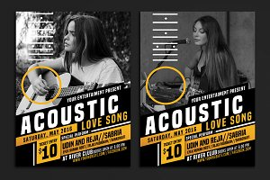 Acoustic Event Flyer Poster
