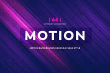 64 Motion BGs Grunge Style & clean
