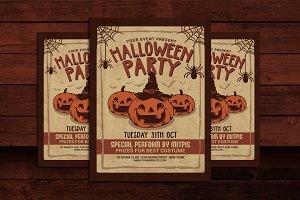 Halloween Party Vintage Flyer