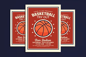 Basketball Tryout Flyer