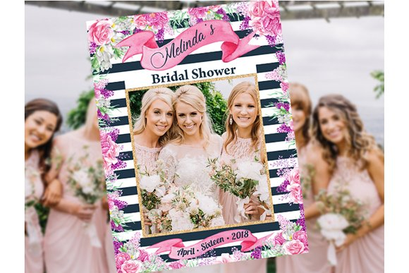Bridal Shower Photo Prop Flowers Stationery Templates Creative