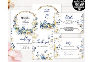 Romantic Peony Forest Wedding Invite