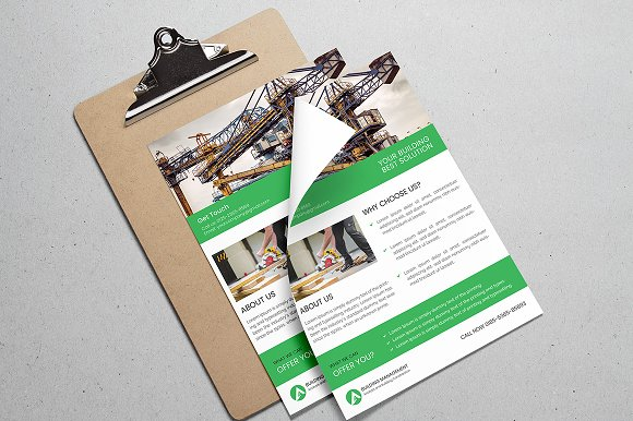 Construction Flyer  in Flyer Templates - product preview 2