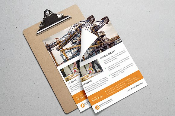 Construction Flyer  in Flyer Templates - product preview 3