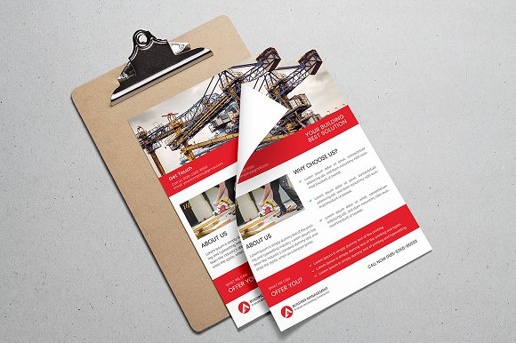 Construction Flyer  in Flyer Templates - product preview 4
