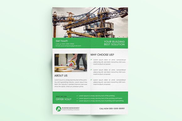 Construction Flyer  in Flyer Templates - product preview 5