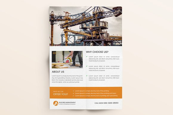 Construction Flyer  in Flyer Templates - product preview 6