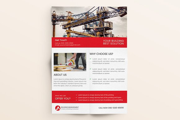 Construction Flyer  in Flyer Templates - product preview 7
