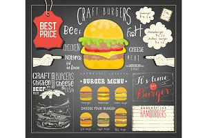 Burger Menu Template Placemat