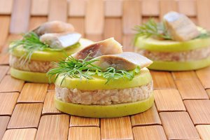 "Appetizer of foie herring ""forshmak"""