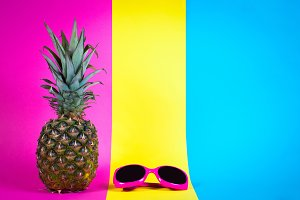 Pineapple sunglasses pastel color