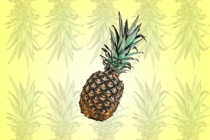 Pineapples pastel color