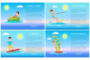 Donut Ride and Surfing Sport, Active Rest Banner