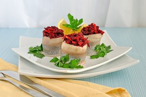 Herring stuffed