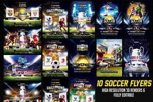 Fifa World Cup 2018 Flyer Bundle