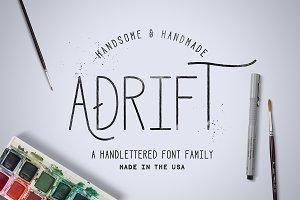 Adrift Font + Extras