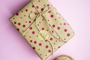 Birthday gift wrapping concept