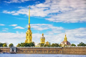 The Peter and Paul Fortress in St.Petersburg