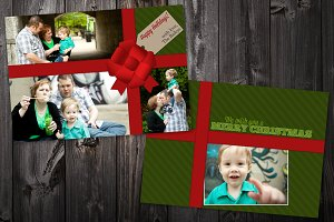 Ribbon: 5x7 Xmas Card Template