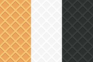 Seamless pattern of waffle