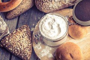 diverse fresh bread