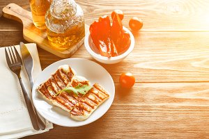 Halloumi grilled cheese